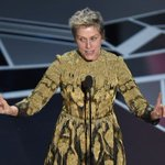 Watch Best Actress winner Frances McDormand ask every female Oscar nominee to stand
