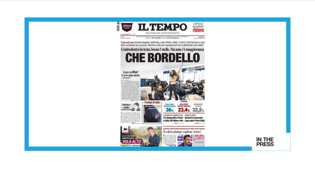IN THE PRESS - 'Che bordello !' Italy assesses election chaos