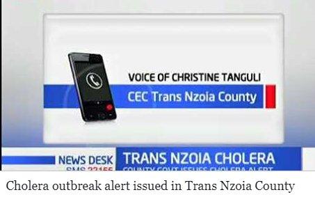 Cholera outbreak alert issued in Trans Nzoia County