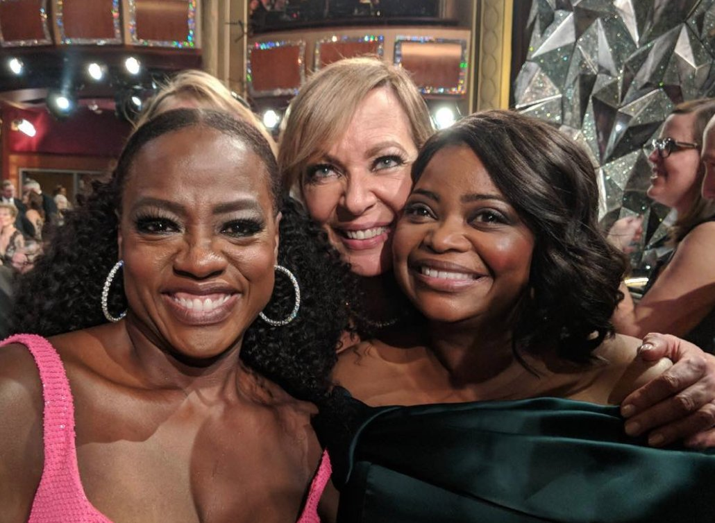 Oscars: 'The Help' stars @ViolaDavis, @AllisonBJanney & @OctaviaSpencer reunited last night