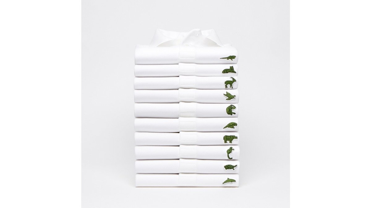 Lacoste adopts temporary logo to help endangered species