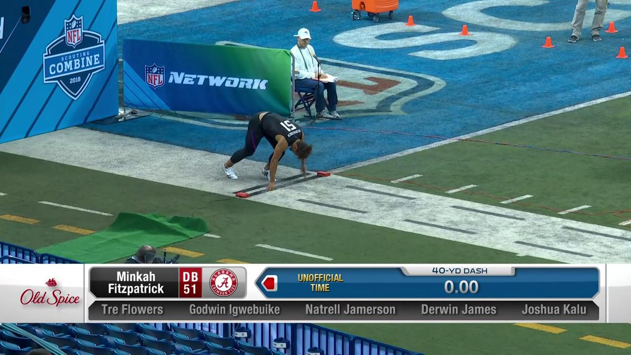 Alabama prospect @minkfitz_21 takes on the 40-yard dash.   �� @NFLNetwork x #NFLCombine https://t.co/LxQp6qD7NM