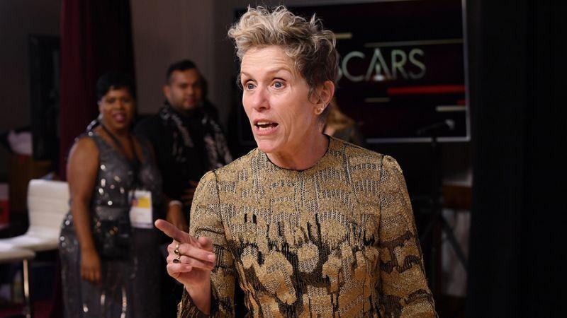 Frances McDormand's Oscar Thief Posts Video of Stolen Trophy on Facebook