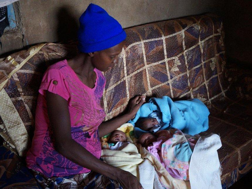 Thirty-two-year-old Kiambu mother of triplets seeks cash for powder milk
