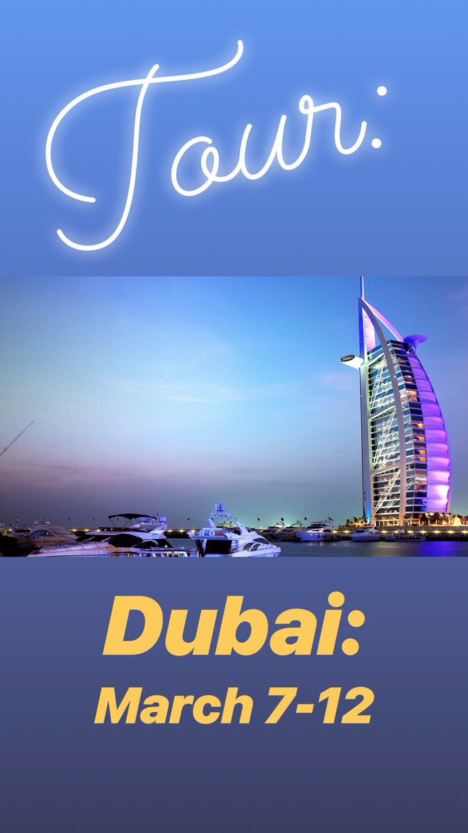 Dubai Tour: March 7-12 email my assistant to meet me 6acrY6ID