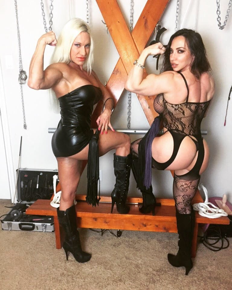 Fantasizing about 2 Muscle Dommes! Come see Us in #Vegas 3/7-8 #DoubleSessions #muscledomination 813-325-0956