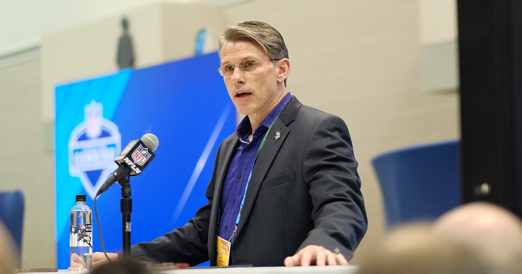 GM Rick Spielman can't escape the QB question, not even in church.   ��: https://t.co/kzO2Sw0Ain https://t.co/f2ZNaBpLTI