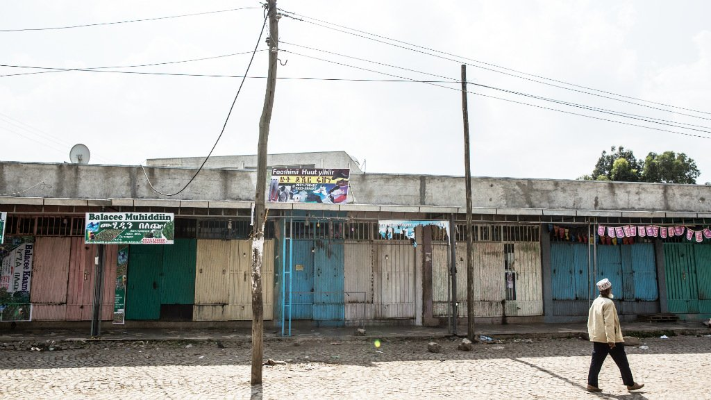 Ethiopians protesting state of emergency shut down capital, Oromia region