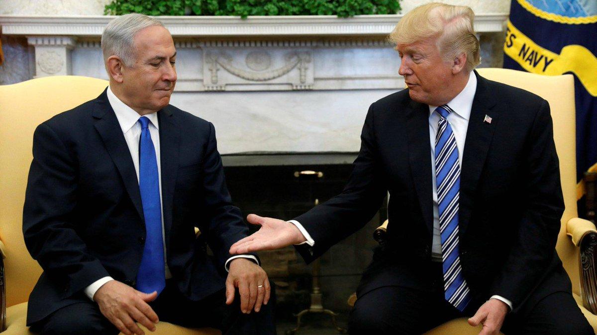Trump says he may travel to Israel for embassy opening, Netanyahu attacks Iran
