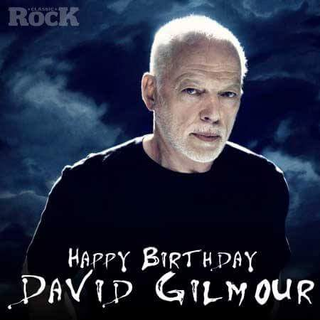 Happy birthday to Pink Floyd\s David Gilmour. 72 today!
