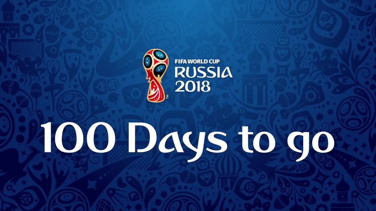 RT @fifaworldcup_es: ¡ ???? días para la Copa Mundial !  ????????⏳ #Rusia2018 https://t.co/mdUkaYsIBa