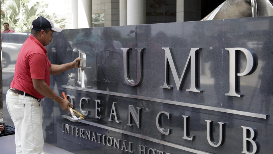 Trump name stripped from Panama hotel in property dispute