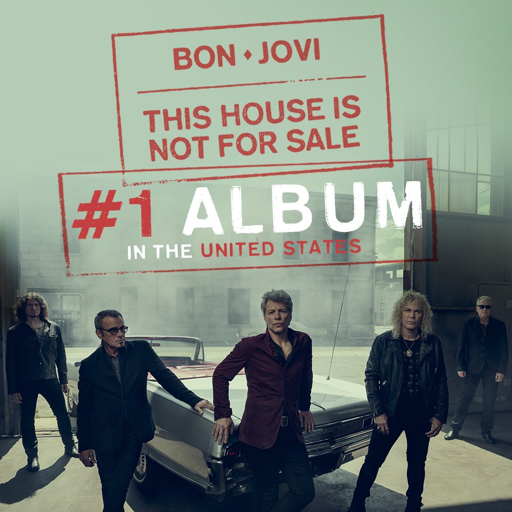 �� Big congrats to @bonjovi, #ThisHouseIsNotForSale is the #1 album in America! https://t.co/2nGGE3FtPD