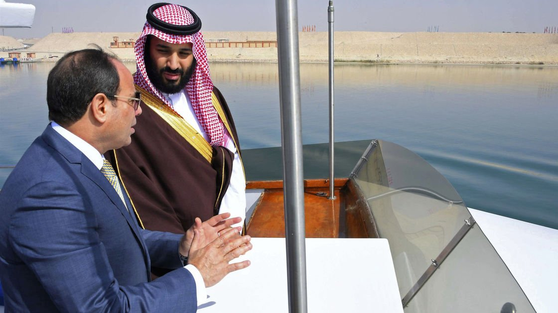 Saudi crown prince winds up trip to Egypt with mosque visit