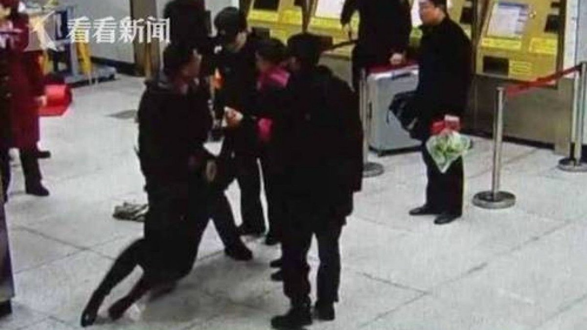 Chinese subway passenger arrested after refusing to put handbag through 'dirty' scanner