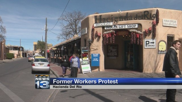 Workers hold protest outside popular Old Town restaurant