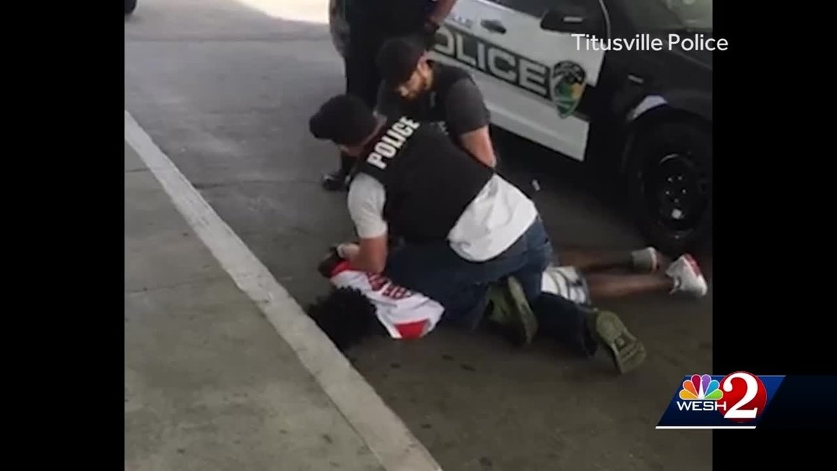 Titusville officer cleared after allegedly punching suspect on video