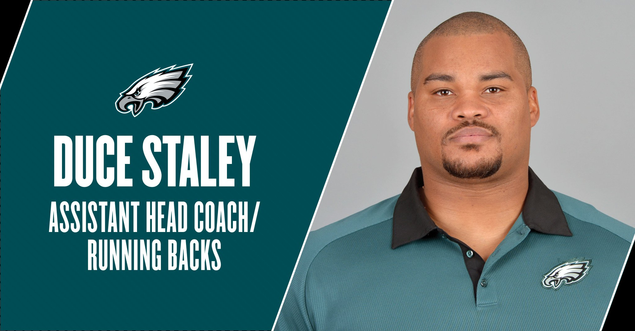 Duce Staley has been promoted to assistant head coach/running backs.  #FlyEaglesFly https://t.co/T4FT6ZCct9