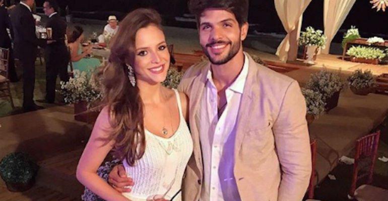 Lucia Vilela. Foto do site da Contigo que mostra BBB18: Lucas confirma fim do noivado com Ana Lúcia Vilela