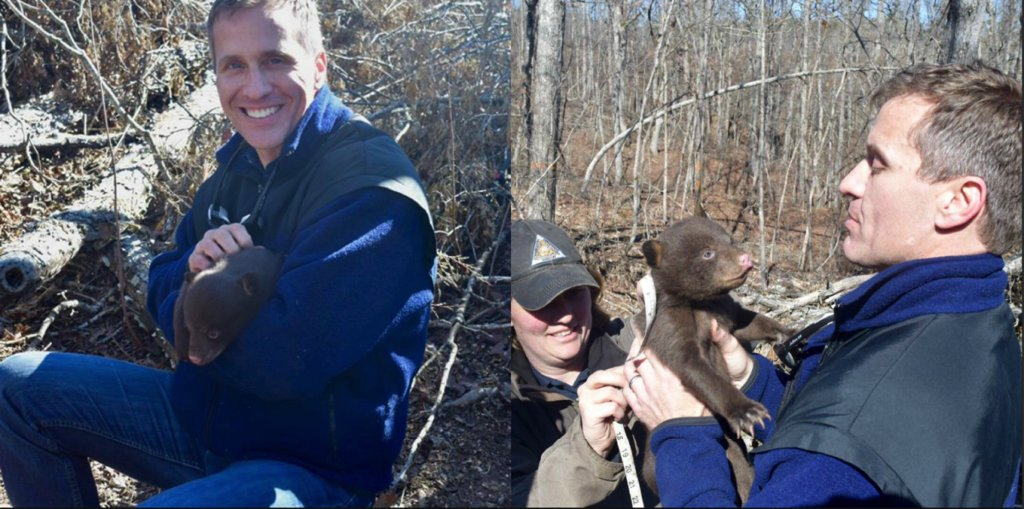 Gov. Greitens appears with bear cub on Facebook after indictment meeting