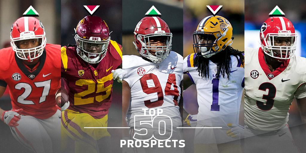 Top 50 prospects 2.0 (via @MoveTheSticks)  BIG movement after the @NFL Scouting Combine: https://t.co/Ja5WrWg1BU https://t.co/ujmVikv90J