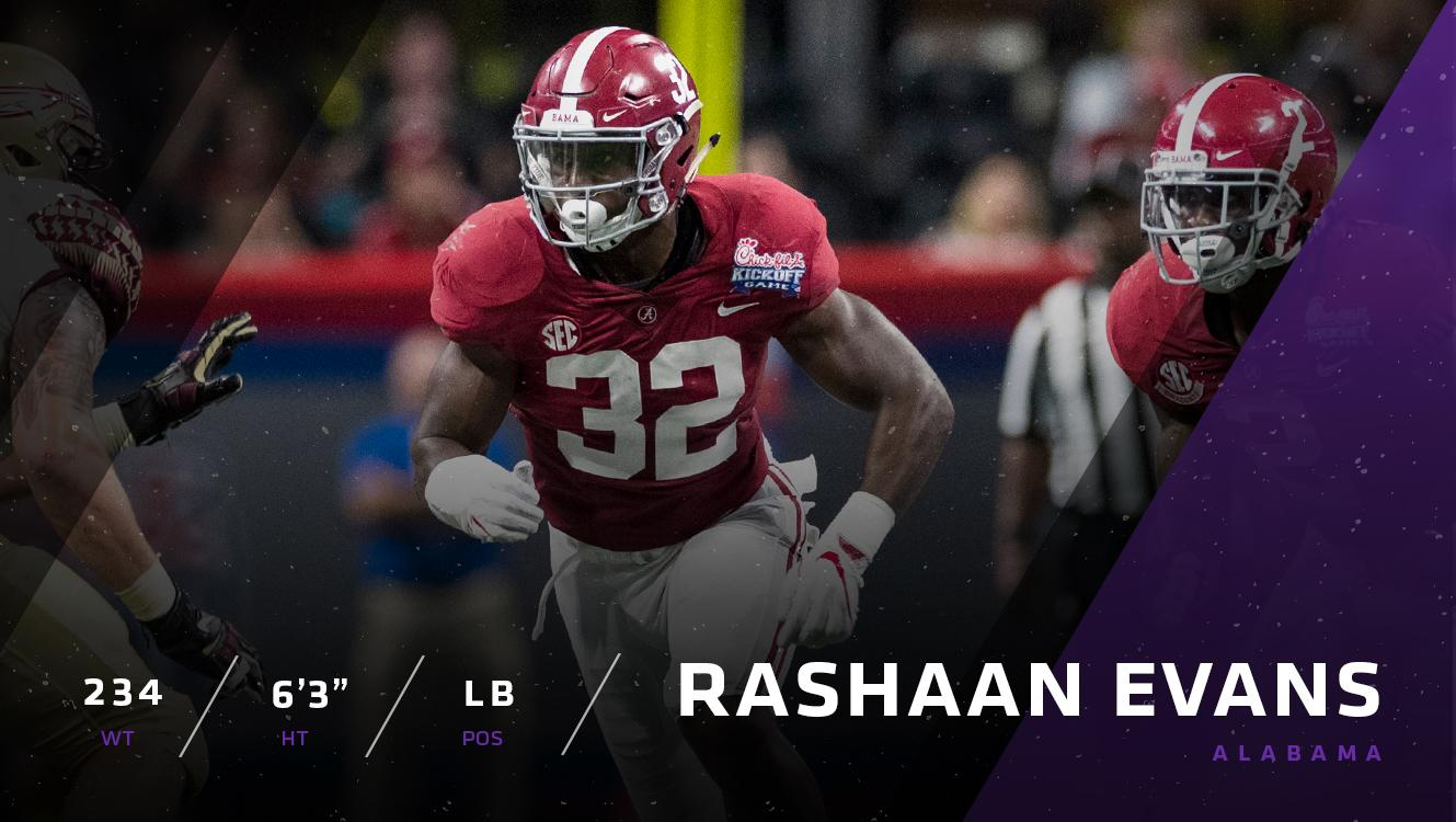 Alabama's Rashaan Evans is one of the top linebackers in this year's draft class.   ��: https://t.co/mdjejIWci7 https://t.co/iXLOmsjzmE