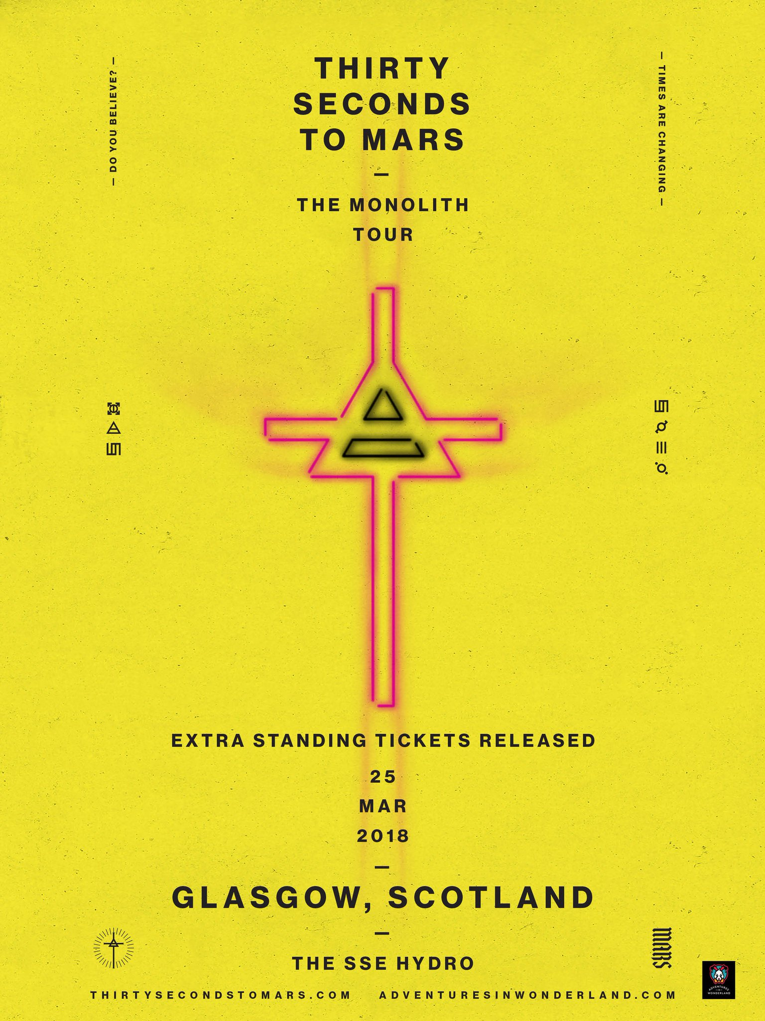 GLASGOW.. NEW STANDING TIX just released for MARCH 25!! Get 'em while you can: https://t.co/66u3gtQPSA https://t.co/UYkwMXfKBX