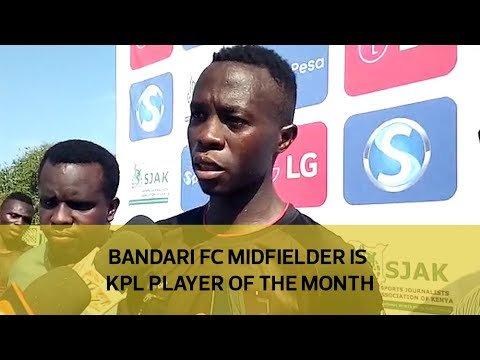 Bandari FC midfielder is KPL player of the month