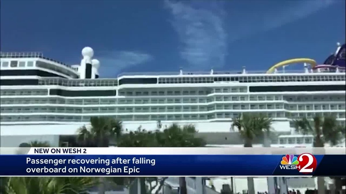 Woman recovering after falling overboard on Norwegian Epic