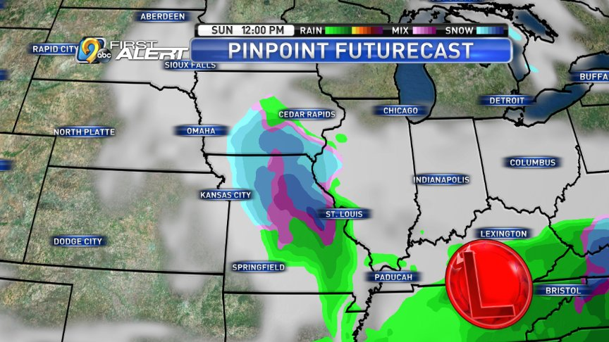 Rain/snow mix possible in the second half of the weekend