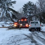 Tree Brings Down Live Wires on Fire Truck in East Hartford