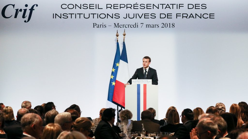France's Macron vows to fight anti-Semitism online and off