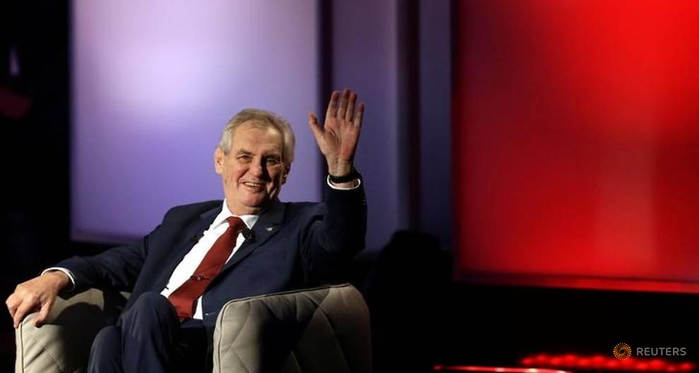 Czech President Zeman swats critics at start of second term