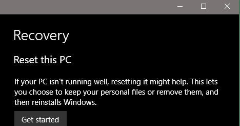 Windows 10: When to Restore, Reset or Recover