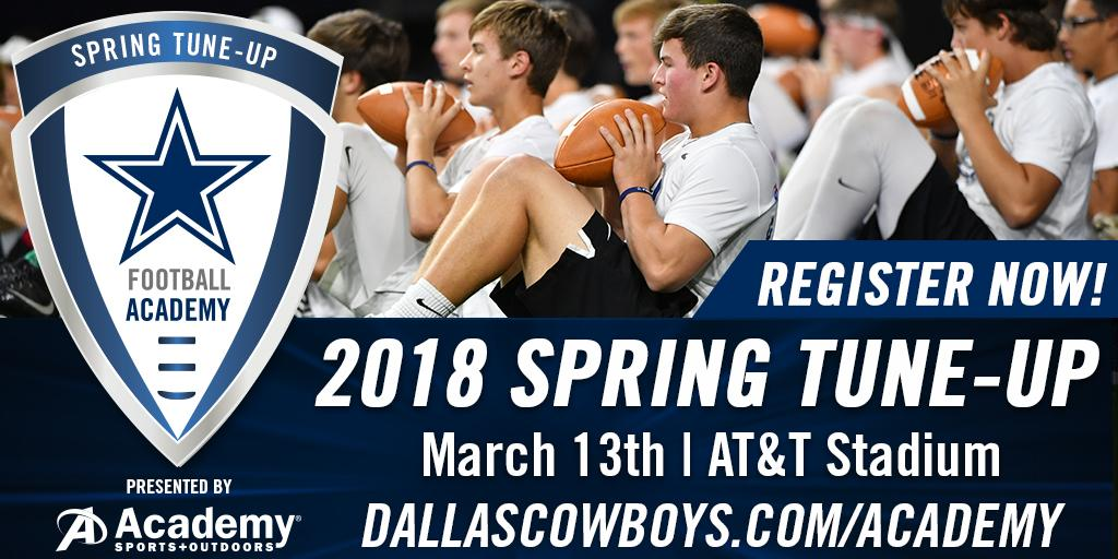 Don't miss the Dallas Cowboys Football Academy's Spring Tune-up @ATTStadium!  Register now: https://t.co/UCXETvQ7vY https://t.co/aLLZe2j0aN