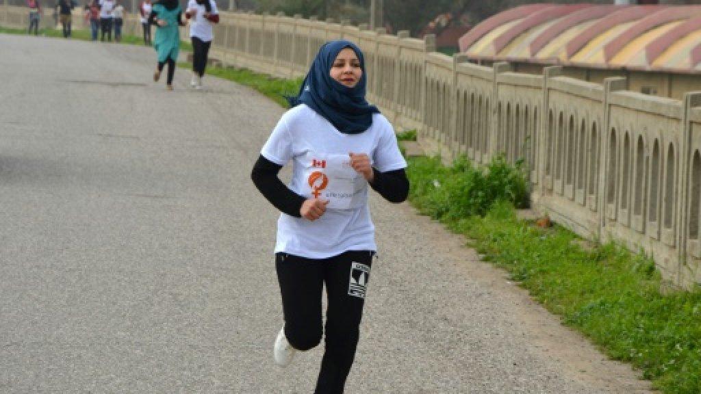 Iraqi women 'reclaim their rights' with Mosul marathon