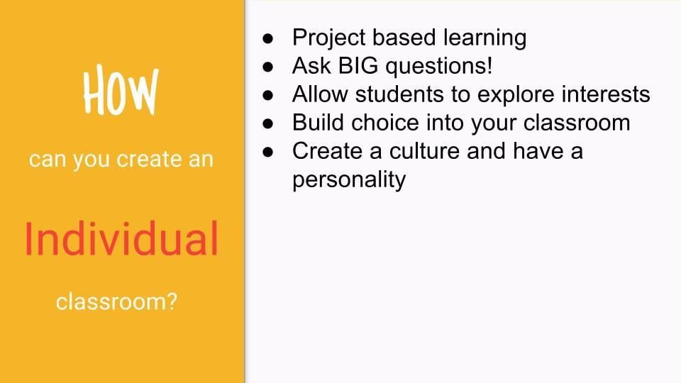 Some ideas on creating an individualized classroom. #teachertips https://t.co/AADBjKvC3h