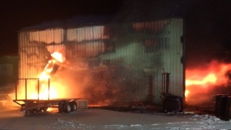 RT @CBCNB: Peat moss plant is 'a total loss' after fire in Baie-Sainte-Anne: