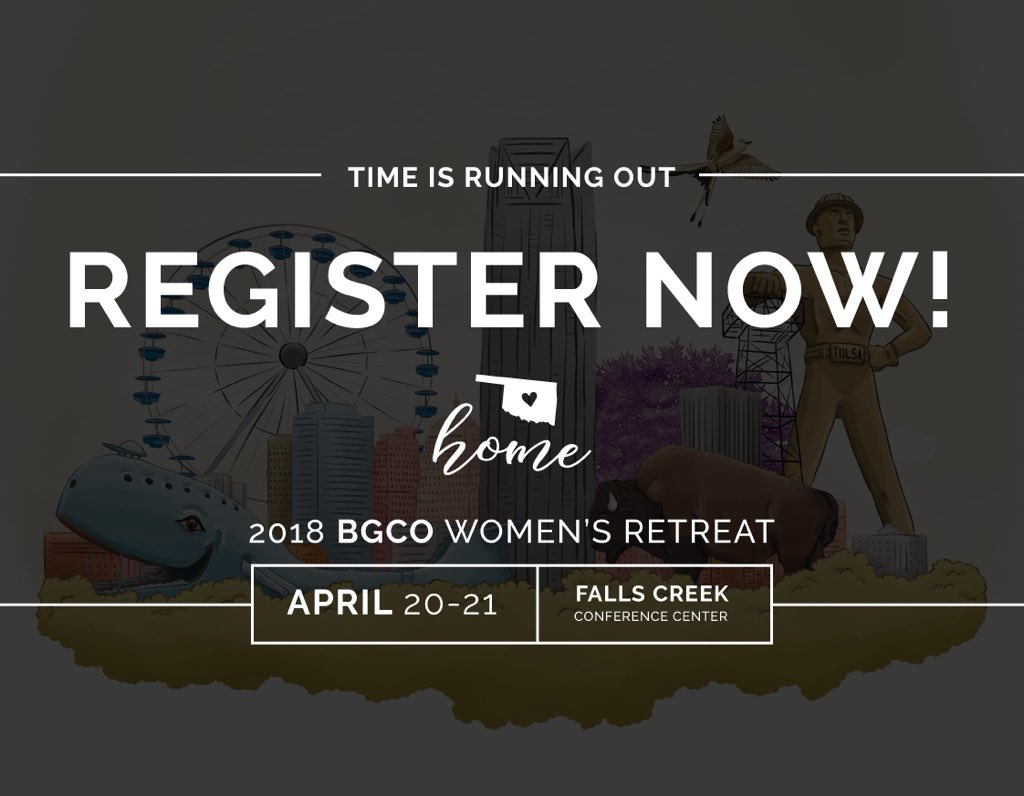 test Twitter Media - TODAY is the early deadline for the BGCO Women's Retreat!! Registrations are flying in — if you are planning on coming, don't wait to register. This event could sell out! https://t.co/PyRK9V72v8