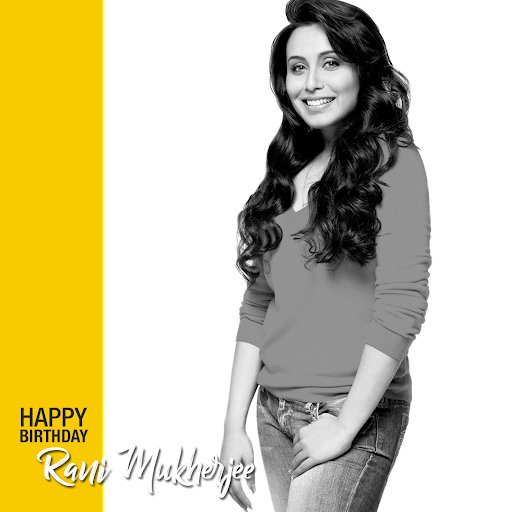 Wishing the star, Rani Mukerji a very happy birthday!
