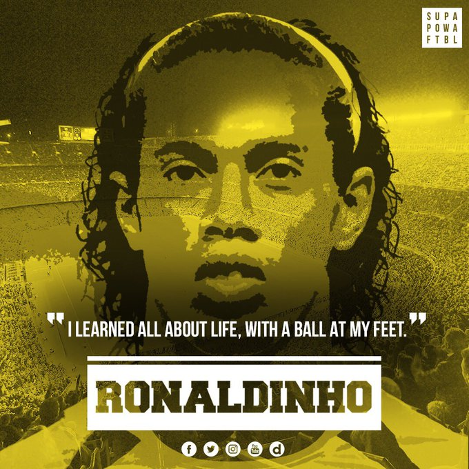 King of Samba. Master of Ginga. Wizard of the game.  Happy birthday Ronaldinho Gaúcho!