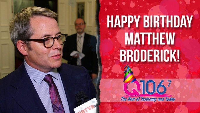 Ferris Bueller is growing up right before our eyes. Happy 56th Birthday to Matthew Broderick!