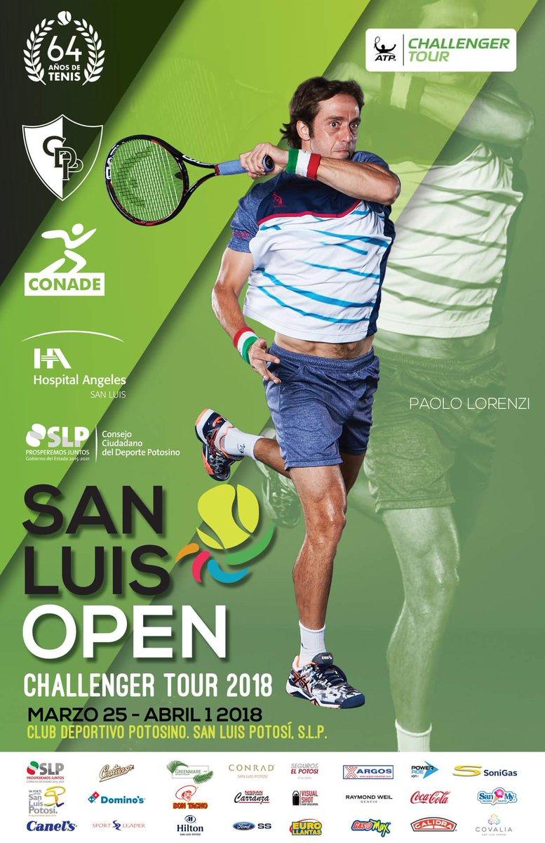 RT @Potosinos_slp: San Luis Open  Challenger Tour 2018  San Luis Potosí  25 marzo - 1 abril  #ViveSanLuisPotosi https://t.co/qzSq0jiLT7
