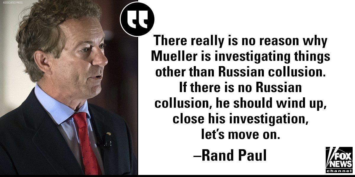 On @AmericaNewsroom, @RandPaul made his feelings on Robert Mueller clear. https://t.co/DXfg6diKYC https://t.co/m35RuFXBn3