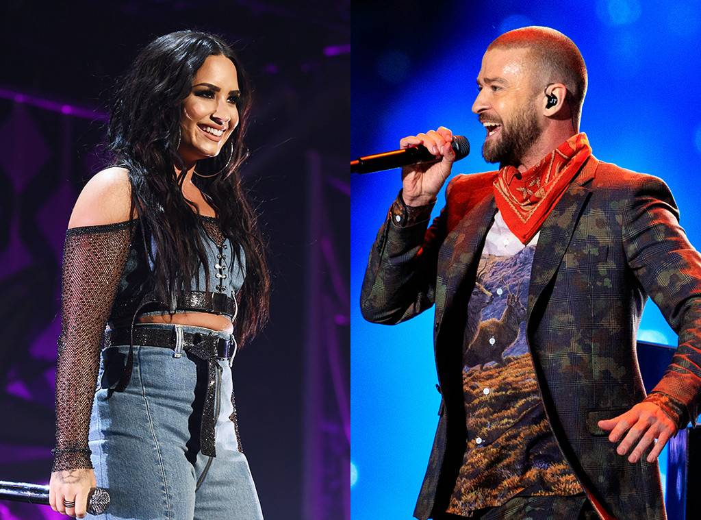 Demi Lovato and Justin Timberlake had to cancel tour dates due to the nor'easter: