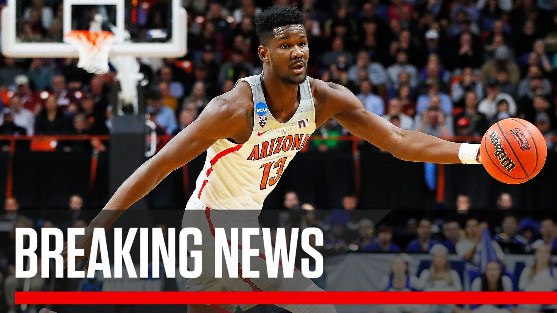 Breaking: Arizona freshman Deandre Ayton announces on Twitter he is declaring for the NBA draft. https://t.co/0Lc33zrTUM