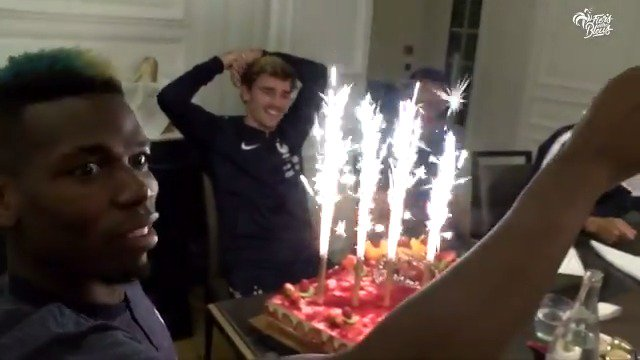 Antoine Griezmann receive a very French Happy Birthday!
