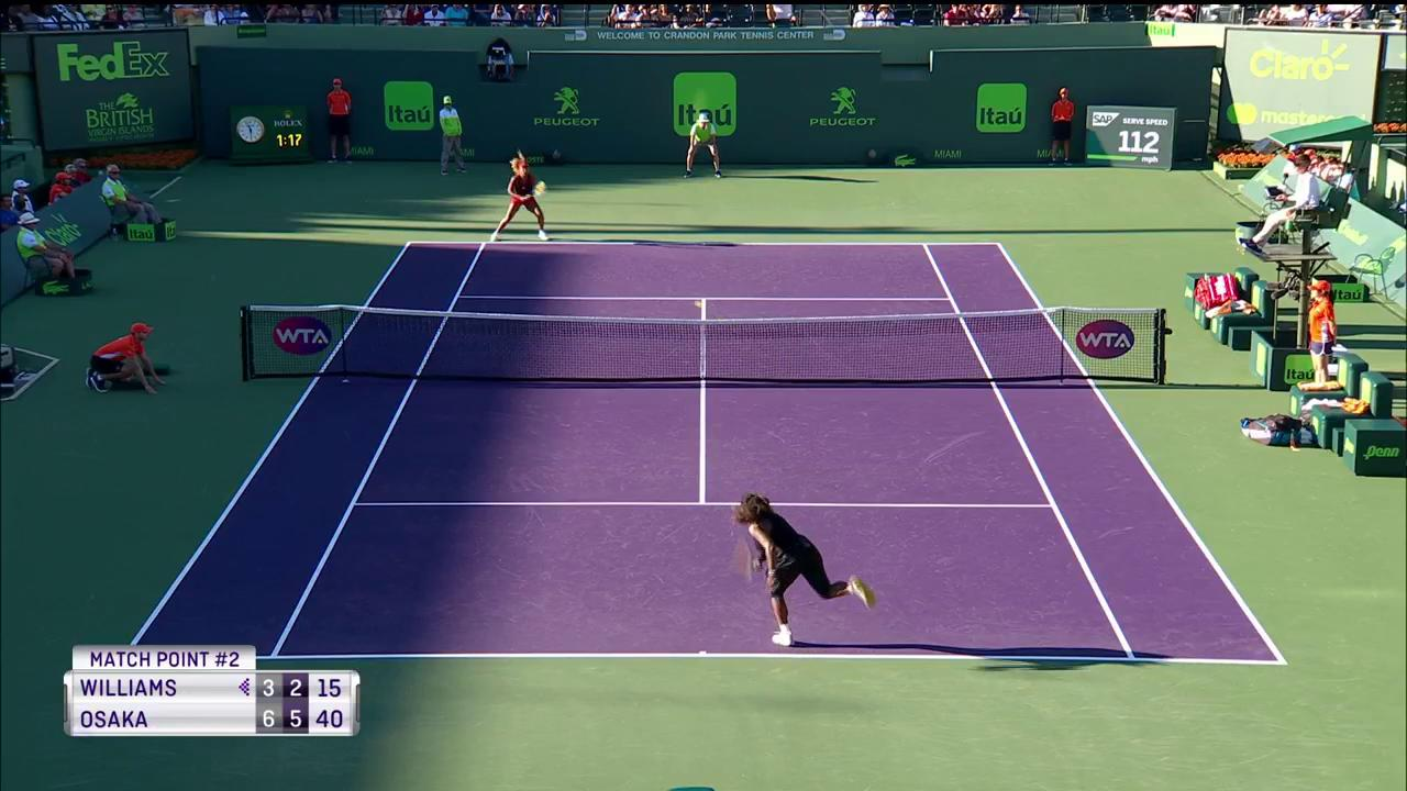 The winning continues for @Naomi_Osaka_!  Knocks out eight-time champ Serena Williams, 6-3, 6-2.  #MiamiOpen https://t.co/xAvDV8LUIY