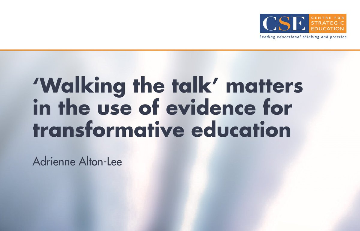 test Twitter Media - 'Walking the talk' matters in the use of evidence for transformative education - great insights in this paper by Dr Adrienne Alton-Lee, Evidence, Data and Knowledge, Ministry of Education https://t.co/evVtmHS4B8 https://t.co/CUDapiJeXt