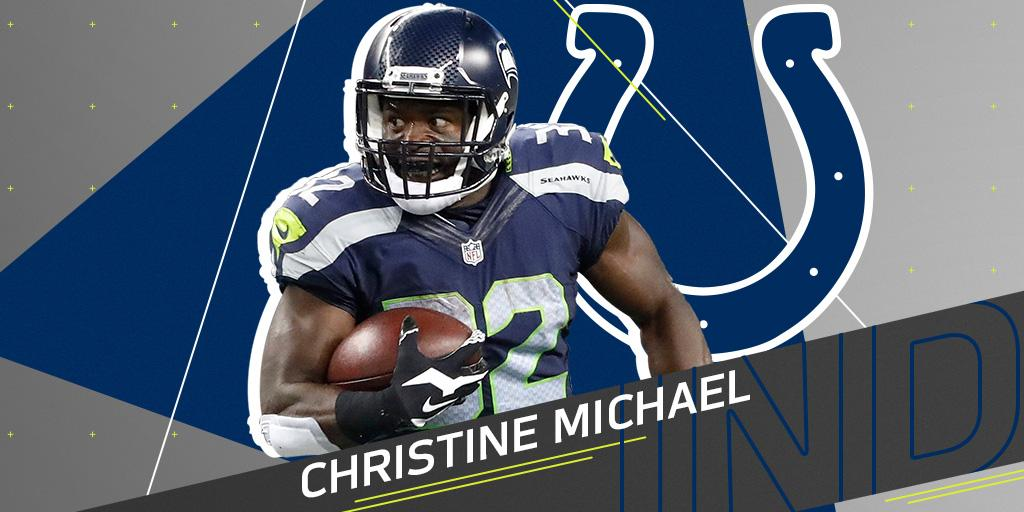 .@Colts re-sign RB Christine Michael: https://t.co/g05jAlkd1K https://t.co/0NIJ5ME7bo